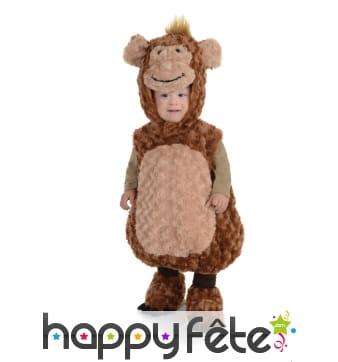 Costume de singe en peluche pour enfant