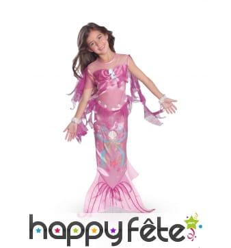 Costume de sirène rose pour enfant