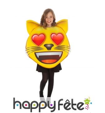 Costume de smiley chat amoureux pour enfant