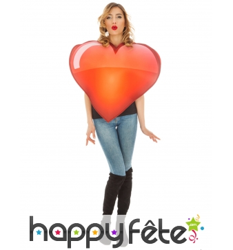 Costume de smiley coeur pour adulte