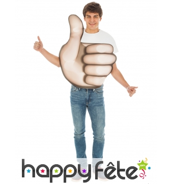 Costume de smiley pouce en l'air pour adulte