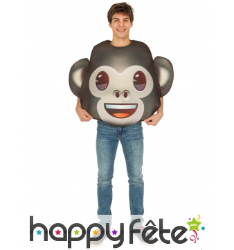 Costume de smiley singe pour adulte