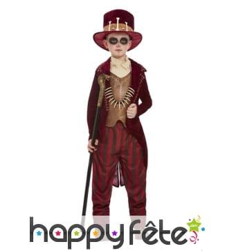Costume de sorcier vaudou pour garçon, rouge