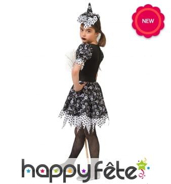 Costume de sorcière imprimés bonbons pour enfant