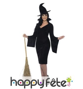 Costume de sorcière noire grande taille