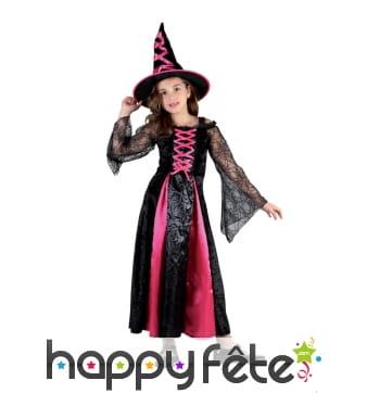Costume de sorcière rose pour enfant