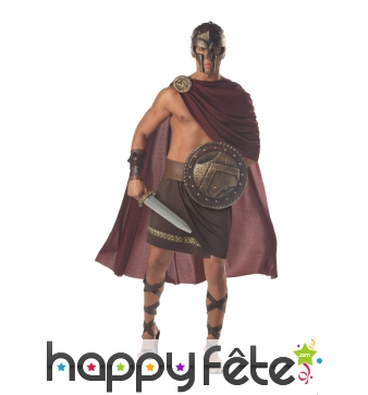 Costume de spartiate avec cape