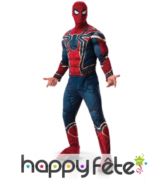 Costume de Spiderman Infinity War musclé, adulte