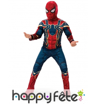 Costume de Spiderman Infinity War musclé, enfant