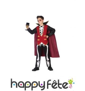 Costume de squelette vampire pour enfant