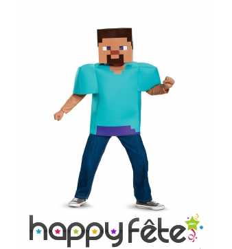 Costume de Steve pour enfant, Minecraft