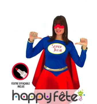 Costume de super héro personnalisable pour femme