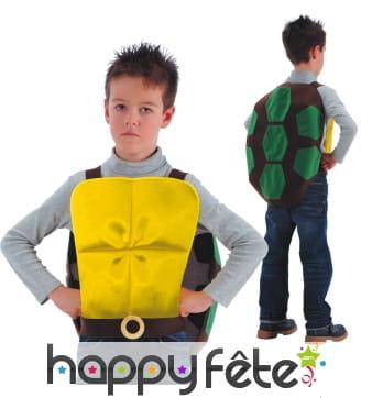 Carapace de tortue pour enfant