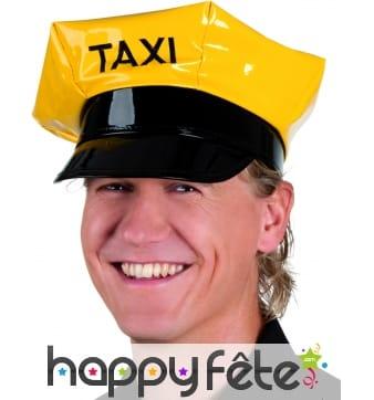 Casquette de taximan jaune