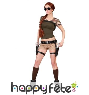 Ceinture de Tomb Raider avec pistolets