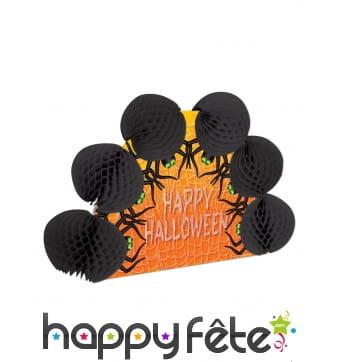 Centre de table Happy Halloween et Araignées