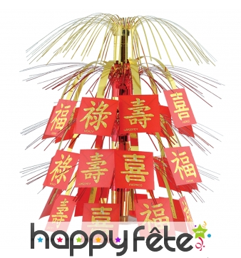 Centre de table voeux de bonheur nouvel an chinois