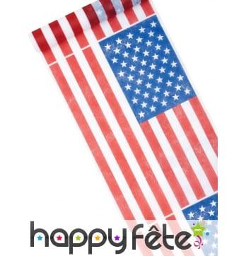 Chemin de table imprimé drapeau Américain