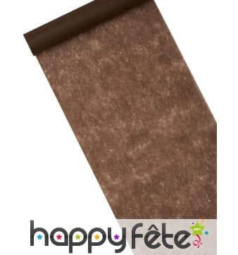 Chemin de table marron chocolat de 10m