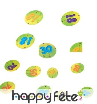 Confettis de table âge de 2,5cm