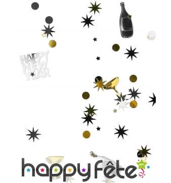 Confettis de table bouteilles et coupes, 34g