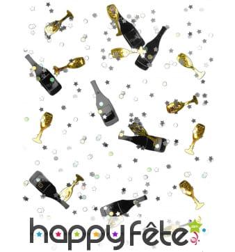 Confettis de table bouteilles et flutes, 14g