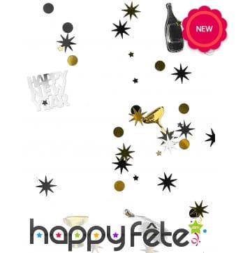 Confettis de table champagne et coupes, 34g