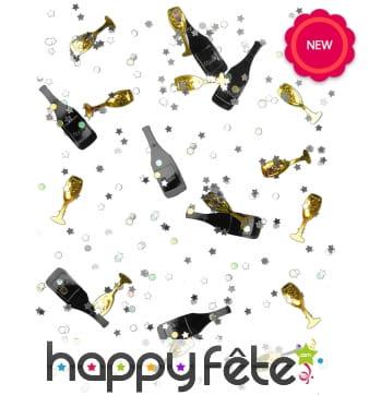Confettis de table champagne et flutes, 14g