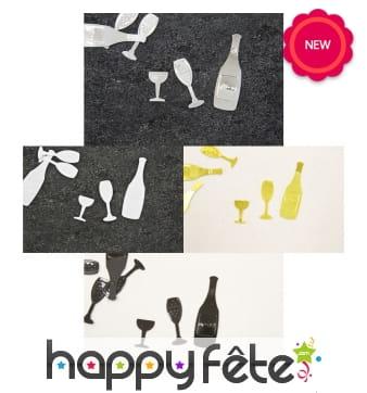 Confettis de table champagne
