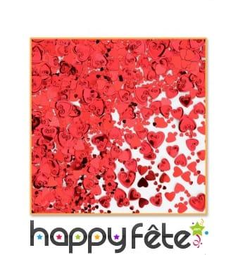 Confettis de table coeurs rouges, 14gr