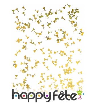 Confettis de table en forme de flutes