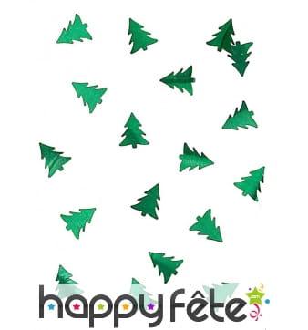 Confettis de table en forme de sapin vert