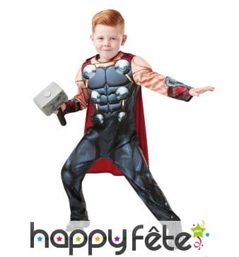 Costume de Thor pour enfant avec marteau
