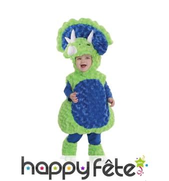 Costume de tricératops en peluche pour enfant