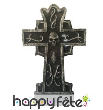 Croix de tombe sinistre de 38cm