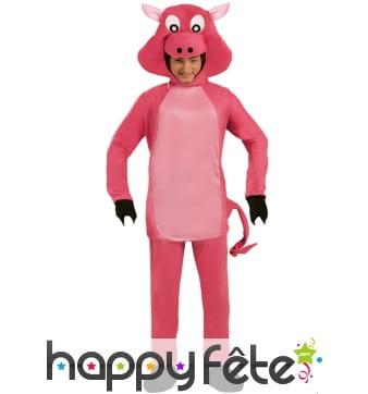 Combinaison d'un cochon rose pour adulte