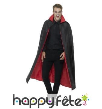 Cape de vampire réversible pour adulte