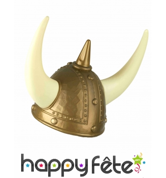 Casque de viking avec grandes cornes pour adulte