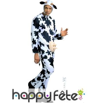 Costume de vache avec pi humoristique