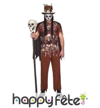 Costume de vaudou squelette pour homme