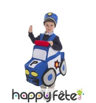 Costume de voiture de police pour enfant