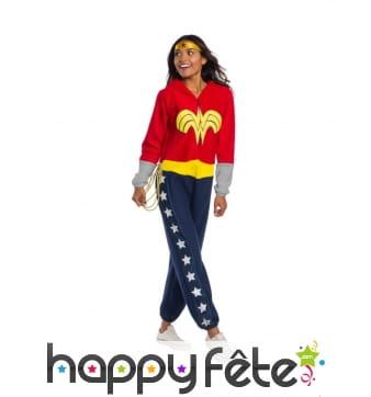 Combinaison de Wonder Woman pour adulte