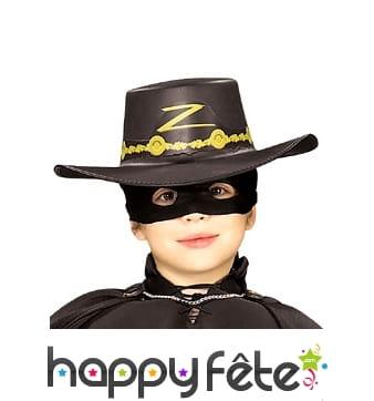 Chapeau de Zorro taille enfant