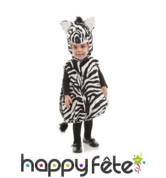 Costume de zèbre en peluche pour enfant