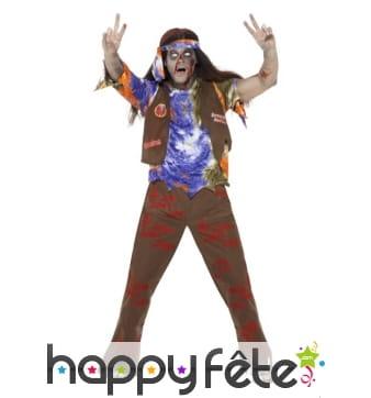Costume de zombie hippie pour homme