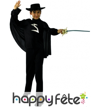Costume de Zorro enfant