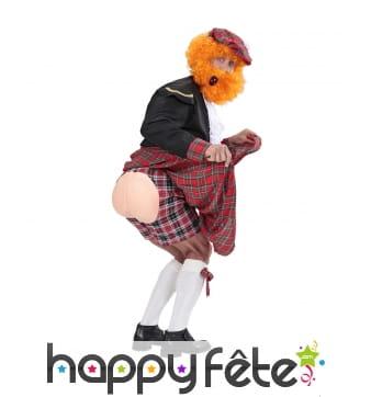Caleçon écossais avec fausses fesses