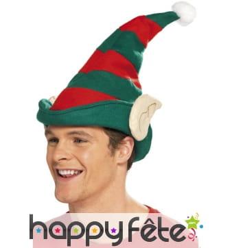 Chapeau elfe avec oreilles