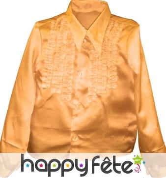 Chemise enfant à super ruches or