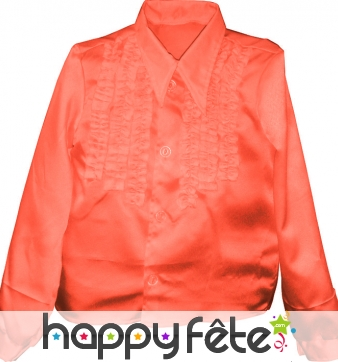 Chemise enfant à super ruches orange